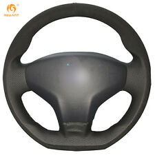 Black Leather Suede Wheel Cover for Citroen 2014 Elysee Peugeot 301 2013-2016