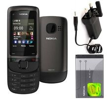 New Condition Nokia Brand C2-05 Black Grey 3G Unlocked Slide  Mobile Phone
