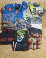 Lot of 14 Boys 4-5 T (XS) Old Navy Wrangler Spiderman OshKosh Jackets Shirts EUC
