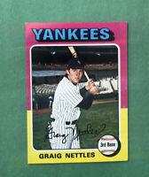 1975 Topps Mini Set Break #160 Greg Nettles, EX-EXMT