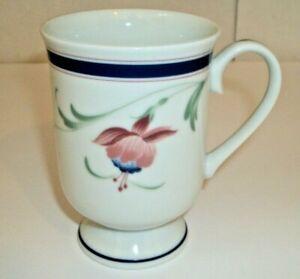 One Molesworth Fuchsia by PRINCESS HOUSE Pink & Blue Flower Blue Band Coffee Mug