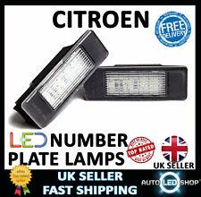 CITROEN BERLINGO 18 LED WHITE NUMBER PLATE LIGHT LAMP UPGRADE BULBS XENON