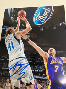 Dirk Nowitzki Signed Autographed Photo With Proof Dallas Mavericks  Luka Doncic