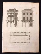 Antigüedad 1800 impresión constructores de Arco. revista ático historia de un mercado casa LXXII