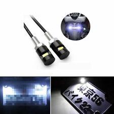 2x LED White 5730-SMD Bolt-On License Plate Light For Car or Motorcycle ATV Bike