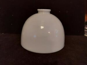 Vintage Ribbed White Milk Glass Lamp Diffuser Torchiere Reflector Shade 8 Inch