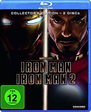 2 Blu-rays * Iron Man 1+2 Collector's Edition - Robert Jr. Downey # NEU OVP  $