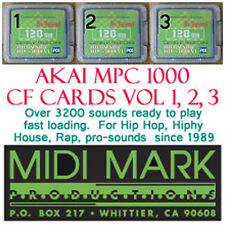 Akai mpc1000 mpc 1000 compact flash card sounds vol 1-3