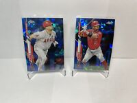 Albert Pujols 2020 Topps Chrome Update Sapphire Lot (2) Cards, Active Leader HOF