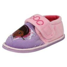Pantoufles roses avec attache auto-agrippant pour fille de 2 à 16 ans