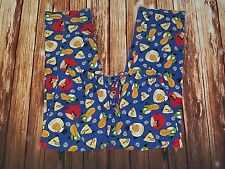 Angry Birds Sz Medium Blue Multi-Colored Cotton Pajama Lounge Pants