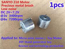 SANYO DC 2V~7.2V 310 Quiet Motor Precious metal brush Micro Solar motor For DIY