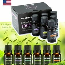 Essential Oil Set -6 Pack -100% Pure Natural Therapeutic Grade Oils Lot 10 ml US