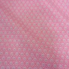 Stoff Baumwolle Japan Asanoha Grafik rosa grau weiß Retro gemustert Meterware