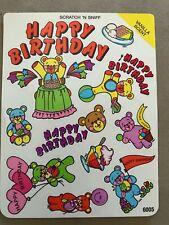 VINTAGE HAPPY BIRTHDAY VANILLA SCRATCH N SNIFF STICKER SHEET