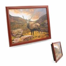 Stag Lap tray in Burgundy New Leonardo Collection Breakfast Tray Stylish Gift