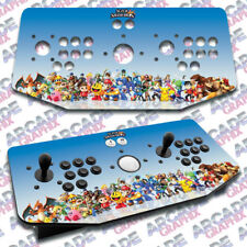 Super Smash Bros X Arcade Artwork Tankstick Overlay Graphic Sticker