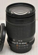 Nikon AF NIKKOR 28-80mm f/3.5-5.6D Lente para FX & DX. es la versión de elementos de 8