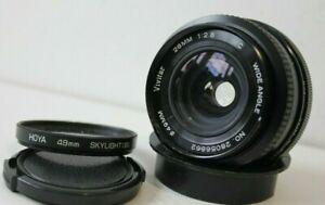 Pentax K Mount Vivitar 28mm f2.8 Wide Angle Manual Prime Lens.K1000,MX,ME etc.