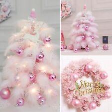 Christmas Wreath Door Hanging Xmas Tree Decoration Pink Garland Ornaments New !