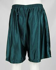 Vintage 90s Nike Mens Green Shiny Satin Elastic Waist Athletic Gym Shorts Sz XL