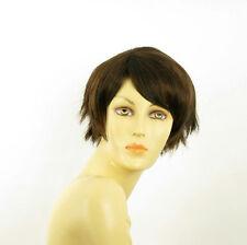 short wig for women smooth chocolate copper wick ref ROMANE 6h30 PERUK
