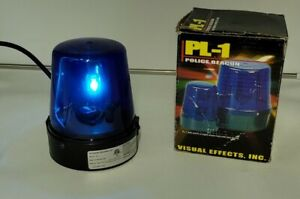 Flashing Blue Police Beacon Party Supplies Light Decoration, 7 Inch Tall