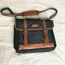 Targus Computer Bag Black Briefcase Leather Messenger Travel Bag Shoulder Strap