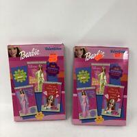 Set Of 2 Vintage Barbie Valentine - 2001 - 32 Cards x2 Pair