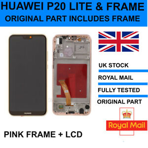 For Huawei P20 Lite LCD Screen Replacement with PINK FRAME ORIGINAL GENUINE PART