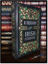Treasury of Irish Literature Sealed Leather Bound Hardback James Joyce O. Wilde