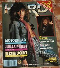 HARD ROCK MAGAZINE 1987 BON JOVI+SLAYER+CELTIC FROST+MOTORHEAD+JUDAS PRIEST+FISC