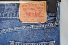 "Vintage Levis 557 ""eve"" jeans W 34 L 32 square cut straight red tab zip fly"