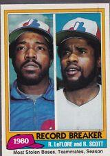 1981 TOPPS BASEBALL RON LEFLORE RODNEY SCOTT #204 EXPOS NMMT *54988