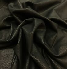 1 oz. Pre Cut Italian Lambskin leather skin Lamb Embossed Turtle Black