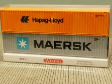 1/87 Wiking MAERSK + Hapag-Lloyd 40ft Container 0018 13