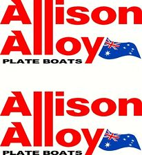 Allison Alloy Aussie Flag, Fishing Boat Mirrored Sticker Decal Set of 2