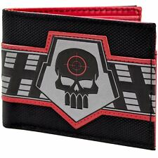 Official Dc Comics Deadshot Skull Target Logo Black Id & Card Wallet *SECOND*