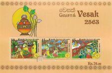 SRI LANKA/2019, (SOUVENIR SHEET) VESAK FESTIVAL (BUDDHA, BUDDHISM), MNH