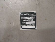 Porsche 914 Karmann badge a must for concours competition 91470110500
