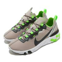 Nike React Element 55 Lime Green Moon Particle Khaki White Men Shoes CQ4600-201