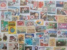 100 DIVERSE croce rossa/Mezzaluna Rossa sulla raccolta francobolli