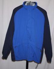 Hollister Co. Men's Blue Nylon Jacket Fleece Lining Windbreaker Size L FREE Ship