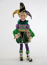 "Katherine's Collection Poseable Jester Doll 16"" Mardi Gras Doll 28-828102"