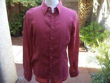 C D Shades men's linen shirt size M Made in USA. Nice!!!