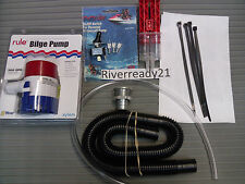 Universal Bilge Pump Kit Boat PWC Sea-Doo Wave-Runner Jet-Ski Rule 500 gph