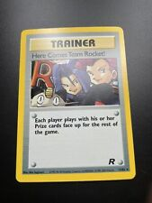 Here Comes Team Rocket Trainer 1st Edition Pokemon Holo Card 15/82 NrMt-Mint