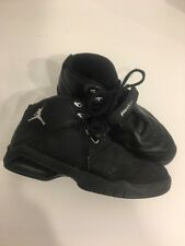 Jordan Team Reign Mens sz 7.5 Sneaker Black Silver Lace Up Hook and Loop Strap