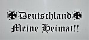 2 X DEUTSCHLAND MEINE HEIMAT 30cm Autoaufkleber IN SCHWARZ Auto Sticker Tuning