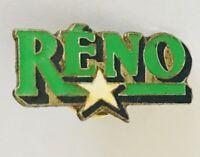 Reno USA America Souvenir Lapel Pin Badge Brooch Vintage (C14)